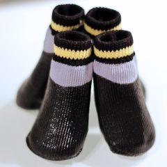 Hund Skor, Fuktig väder Hund Boots, OutDoor Black Wet, 7 storlekar, DiivaDog