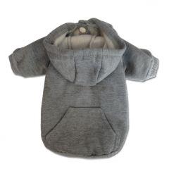 Hund Kläder | Hoodie För Hunden | Basic Gray Hoodie | Hundens Hoodie