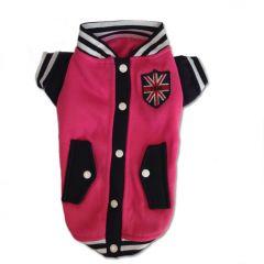 Hundkläder | Sporty Dog Jacka för Hunden | Pink Basketball Jacket