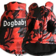 Hund Väst Camo Red | Lätt Vinter Väst för små Hund