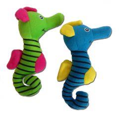 Hundens Leksaker | Sjöhäst | Leksaker Med Ljud | Squeaky Toy | Två Färger Grön och Blå
