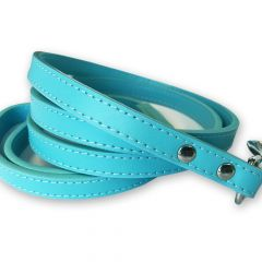 Hundkoppel Total Blue Leather | Läderkoppel Hund