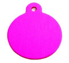 Namnbricka Hunden | Namnbricka Katt, Classic Circle Pink