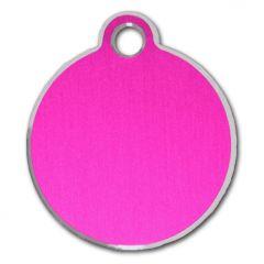 Namnbricka För Hunden eller Katten, Classic Circle Pink & Silver, DiivaDog
