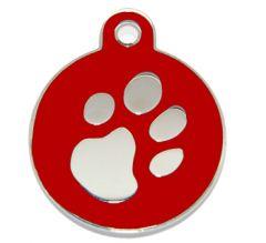 Namnbricka Fashion Circle Red, för hunden eller katten