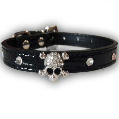 Hundhalsband Diamond Skull Black | För Hund och Katt