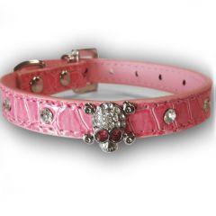 Hundhalsband Diamond Skull Pink | För Hund och Katt