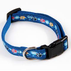 Hundens och Kattens blå halsband Color Paws, DiivaDog