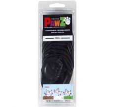 Hundens svarta PawZ gummiboots   PawZ är av naturgummi och formas efter tassen, är vattentäta och skyddar mot kemikalier, vägsalt mm.   Pawz hålls på tassarna utan snören   12 st i packingen   DiivaDog.com