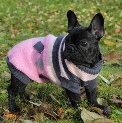 Hund Stickad Tröja Pink Lakrits