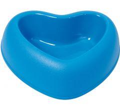 Hjärtformade matskål fär Hund och Katt, Amore Blå, 3 storlekar , DiivaDog