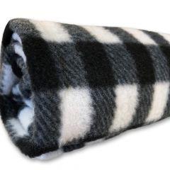 Hundfilt Black-White Fleecefilt| DiivaDog.se