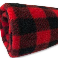 Fleecefilt Black-Red för Hund eller katt | DiivaDog.se