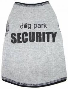 Hund Kläder | Hund T-shirt | Dog Park Security Tanktop