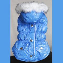 Hund Kläder | Hundens Täckjacka | Härligt ljusblå | Lätt och varm | Mjukt fleecefoder